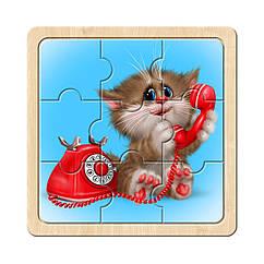Пазл в рамке: Котик - 4