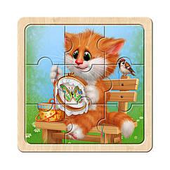 Пазл в рамке: Котик - 5