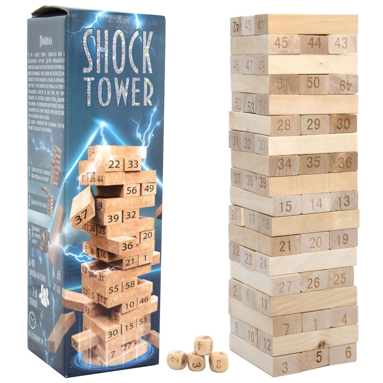 Настільна гра Strateg Shock Tower / Шок Товер (30858)