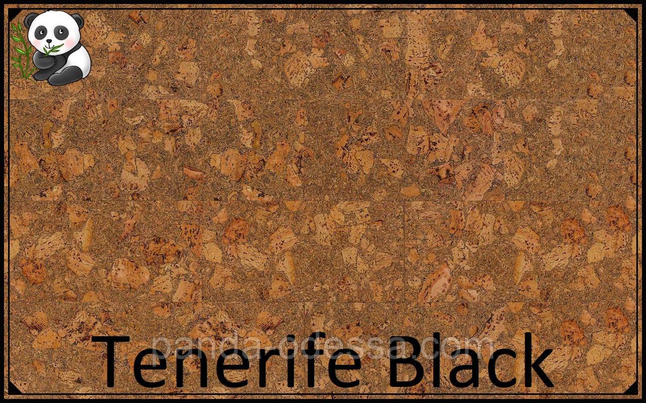 Пробковые панели (обои) Tenerife Black TM Wicanders 600*300*3 мм