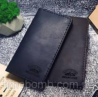 Мужской кожаный кошелек Legendary черный + упаковка в подарок