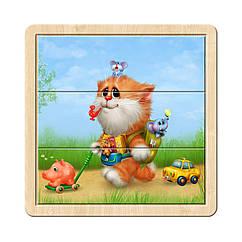Разрезной пазл в рамке: Котик - 1