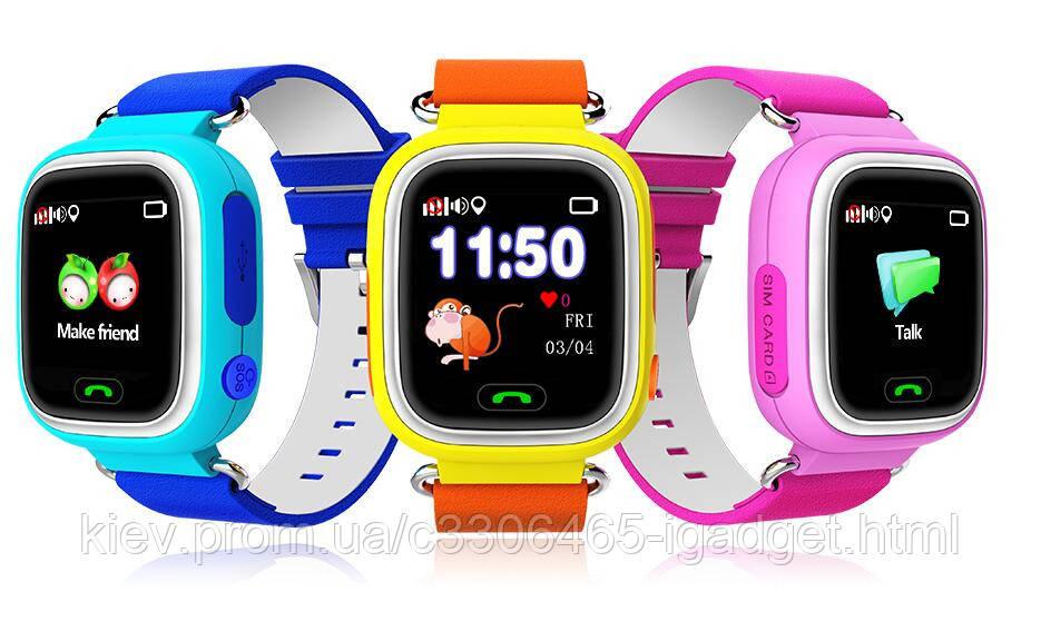 Детские Смарт Часы Q60 ( черный, синий, розовый , голубой )