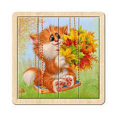 Разрезной пазл в рамке: Котик - 2