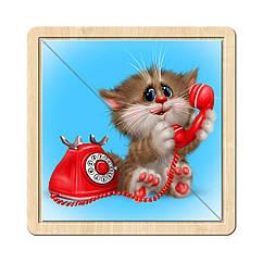Разрезной пазл в рамке: Котик - 4