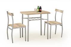 Комплект столовый Lance 82/50(венге)  (Halmar) дуб сонома