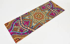 Коврик для йоги и фитнеса Замшевый PVC двухслойный 6мм SP-Planeta FI-6873-5 (размер 173смx61смx6мм, оранжевый,