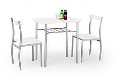 Комплект столовый Lance 82/50(венге)  (Halmar) белый
