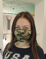 Многоразовая защитная маска для лица, двухслойная