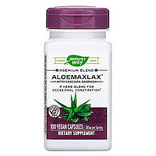 "Алоэ с крушиной Nature's Way ""AloeMaxLax with Cascara Sagrada"" 360 мг (100 капсул)"