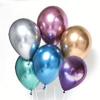 """Гелиевый шар 12"""" 30см хром синии"""