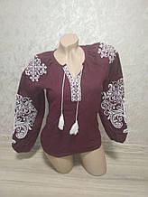 Женская Вышиванка 52 размер (XL). Домотканое полотно.