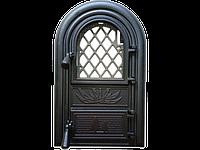 Дверцы печные со стеклом Vitrum. Дверцы для печи и барбекю (560х345мм), фото 1