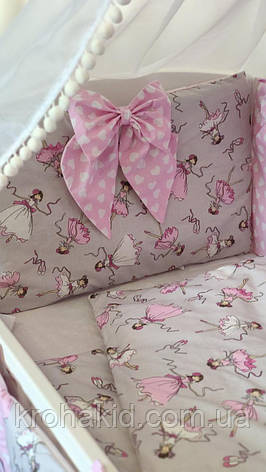 """Набор постельного белья детскую кроватку/ манеж """"Бант"""" - Бортики в кроватку / защита в детскую кроватку, фото 2"""