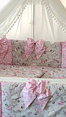 """Набор постельного белья детскую кроватку/ манеж """"Бант"""" - Бортики в кроватку / защита в детскую кроватку, фото 3"""