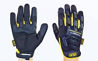 Перчатки тактические с закрытыми пальцами MECHANIX M-PACT, р-р M-XL, черно-желтый (BC-5629)