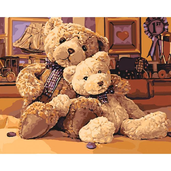 Картина по номерам Идейка - Братец-медвежонок 40x50 см (КНО4126)