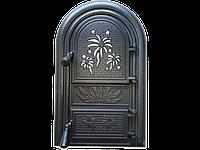 Дверцы печные со стеклом Феєрверк. Дверцы для печи и барбекю (560х345мм), фото 1
