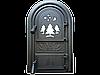 Дверцы печные со стеклом Лес. Дверцы для печи и барбекю (560х345мм)