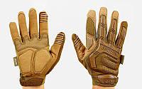 Перчатки тактические с закрытыми пальцами MECHANIX MPACT, р-р M-XL, хаки (BC-5622)