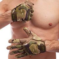 Перчатки тактические с закрытыми пальцами MECHANIX MPACT, р-р M-XL,камуфляж (BC-5622)