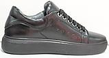 Кроссовки черные женские кожаные от производителя модель РИ110-4, фото 4