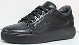 Кроссовки черные женские кожаные от производителя модель РИ110-4, фото 2