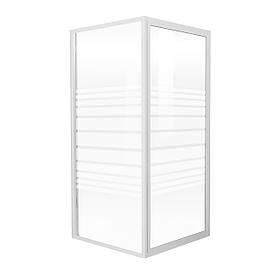 """EGER  FRIDA душевая кабина 90*90*185 см, профиль белый, стекло """"Frizek"""" (стекла+двери)"""