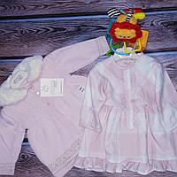Кардиган вязанный и хлопковое платье ТМ NipperLand