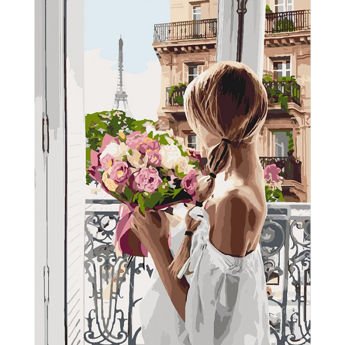 Картина по номерам Идейка - Из Парижа с любовью 40x50 см (КНО4567)