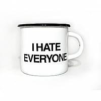 "Чашка металлическая ""I hate everyone"""