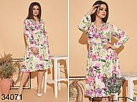 Романтичное платье Размеры: 50-52, 54-56, 58-60, 62-64