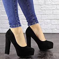 Туфли женские на каблуке черные Sapfir 1233, фото 1