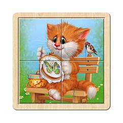 Разрезной пазл в рамке: Котик - 5