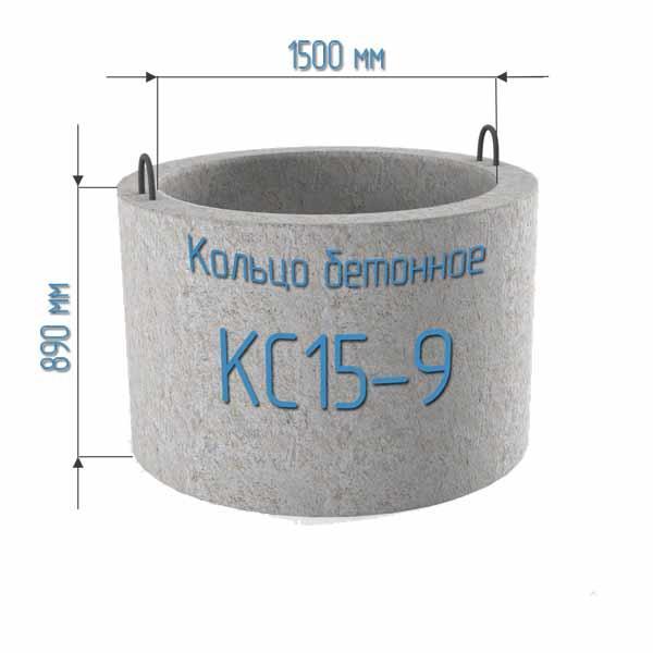 Залізобетонне кільце колодязне КС 15.9