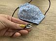 Маска для особи, Горошок на блакитному, фото 4