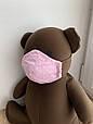 Маска для особи, Горошок на рожевому, фото 2