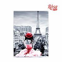 """Полотно на картоні з контуром 30х40 """"ПАРИЖ №2"""" ROSA"""