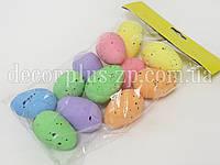 Яйцо цветное в крапинку 4,5см , (уп 12шт)