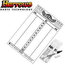 Дартс мишень из сизаля Harrows Official + 6 дротиков, фото 3