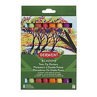 Набор цветных маркеров с двойным наконечником Derwent Academy™ Twin-Tip (Chisel).