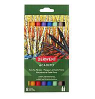 Набор цветных маркеров с двойным наконечником Derwent Academy™ Twin-Tip (Brush).