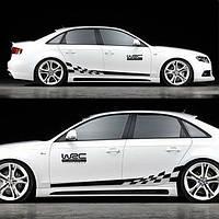 "Наклейки на авто - Тюнинг смуги ""WRC"" 30x250 см х 2 шт"