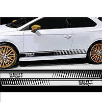 "Наклейки на авто - Тюнинг полосы ""SEAT Sport""  11x180 см х 2 шт"