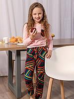 Яркая детская пижама. Детская одежда для дома. Пижама для девочки