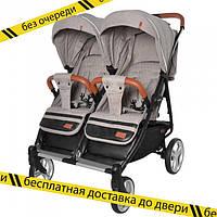 Детская прогулочная коляска для двойни ,близнецов CARRELLO Connect CRL-5502 Cotton Beige