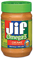 Арахісова паста JIF Omega-3 creamy peanut butter 454g