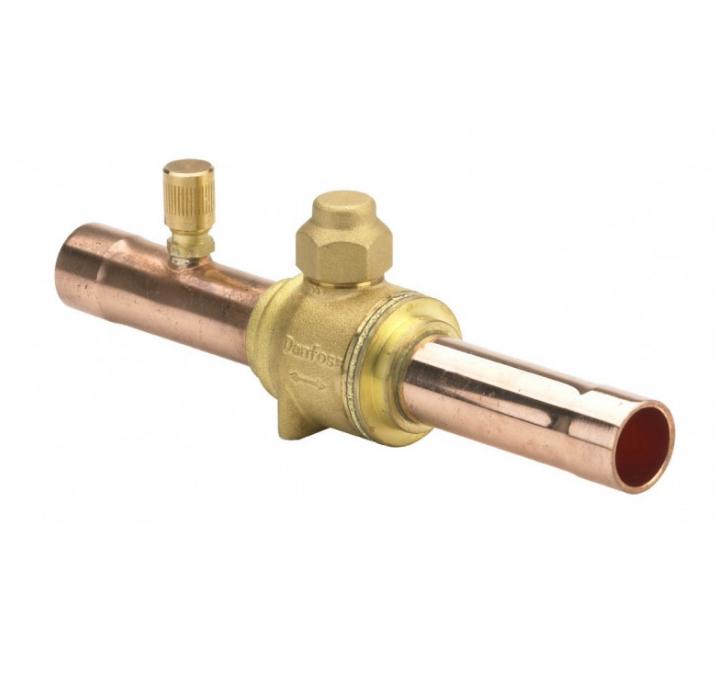 Запорный шаровой клапан GBC 54s / под пайку с клапаном Шредера / Danfoss