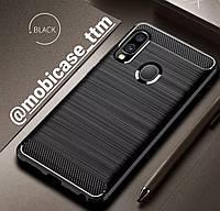 Чехол Ipaky Carbon для телефона Samsung Galaxy A30 SM-А305F защита на самсунг гелекси А30 бампер протиударный