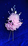 Прикраса для волосся з шифоновими квітами, фото 3